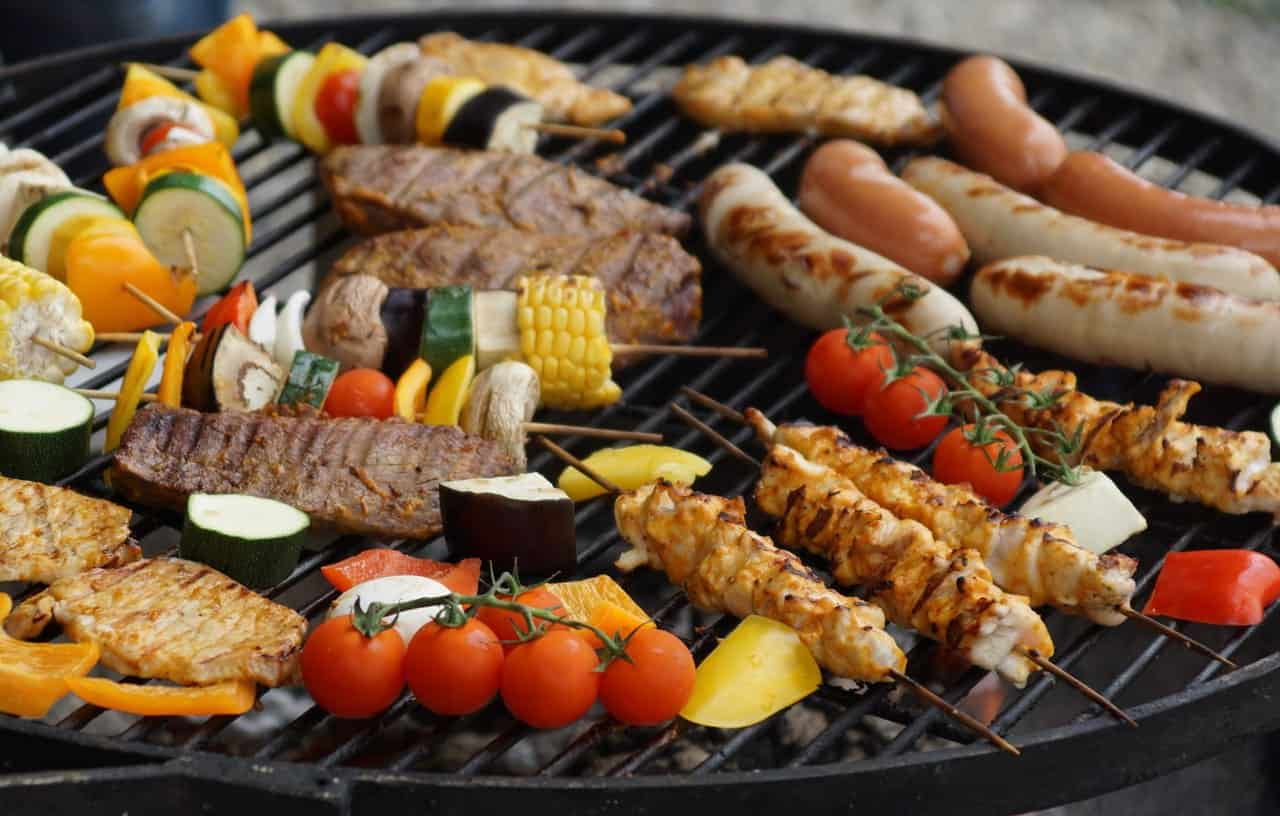 barbecue on charcoaled grill